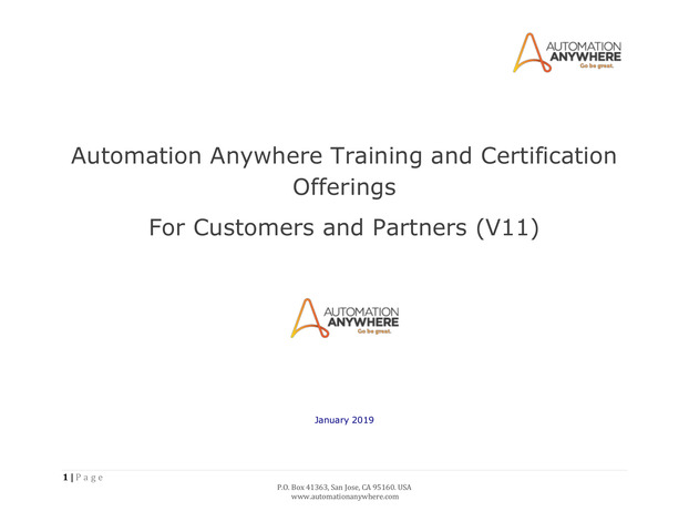 AA Certified Master RPA Professional (Version 11)