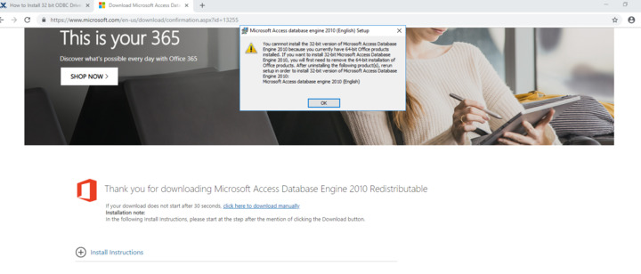 I have 64 bit environment to work on with microsoft 2016